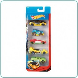 PACK 5 VEHÍCULOS HOT WHEELS