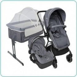 COMBO CUNA SIDE BY SIDE GRAY + COCHE TRAVEL SYSTEM 360 GRAY